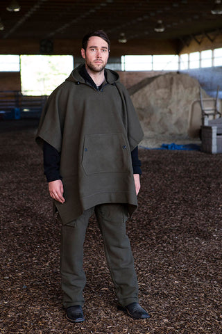 WeatherWool Advisor Chase Burnett in Drab Pants and Poncho