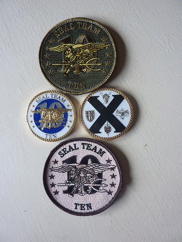 WeatherWool THANKS SEAL Team 10 for these Patches and Challenge Coins