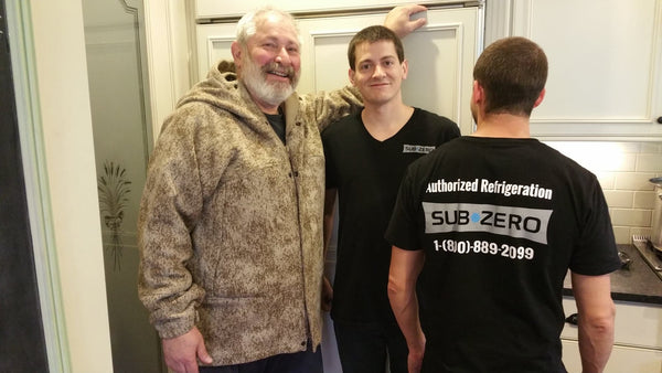 WeatherWool SkiJac in Lynx Pattern and Sub-Zero Refrigerator with Eric and Kevin of Authorized Refrigeration LLC