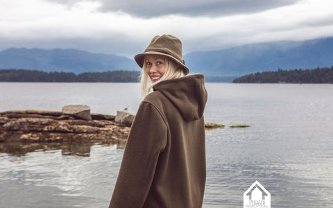 Trustin Timber's Caitlin in WeatherWool Anorak and Walker Hat