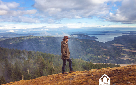 Cody of Trustin Timber in British Columbia, wearing WeatherWool