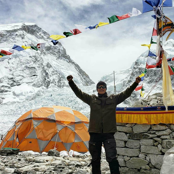 WeatherWool ShirtJac at Base Camp on Mount Everest