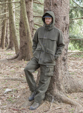 WeatherWool All-Around Jacket in Solid Drab Color, Merino Jacquard Hood, Pants and Jacket. Always pure American