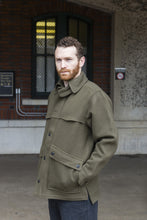 WeatherWool's All Around Jacket in Solid Drab Color.  Always Pure Merino Wool woven on a Jacquard loom