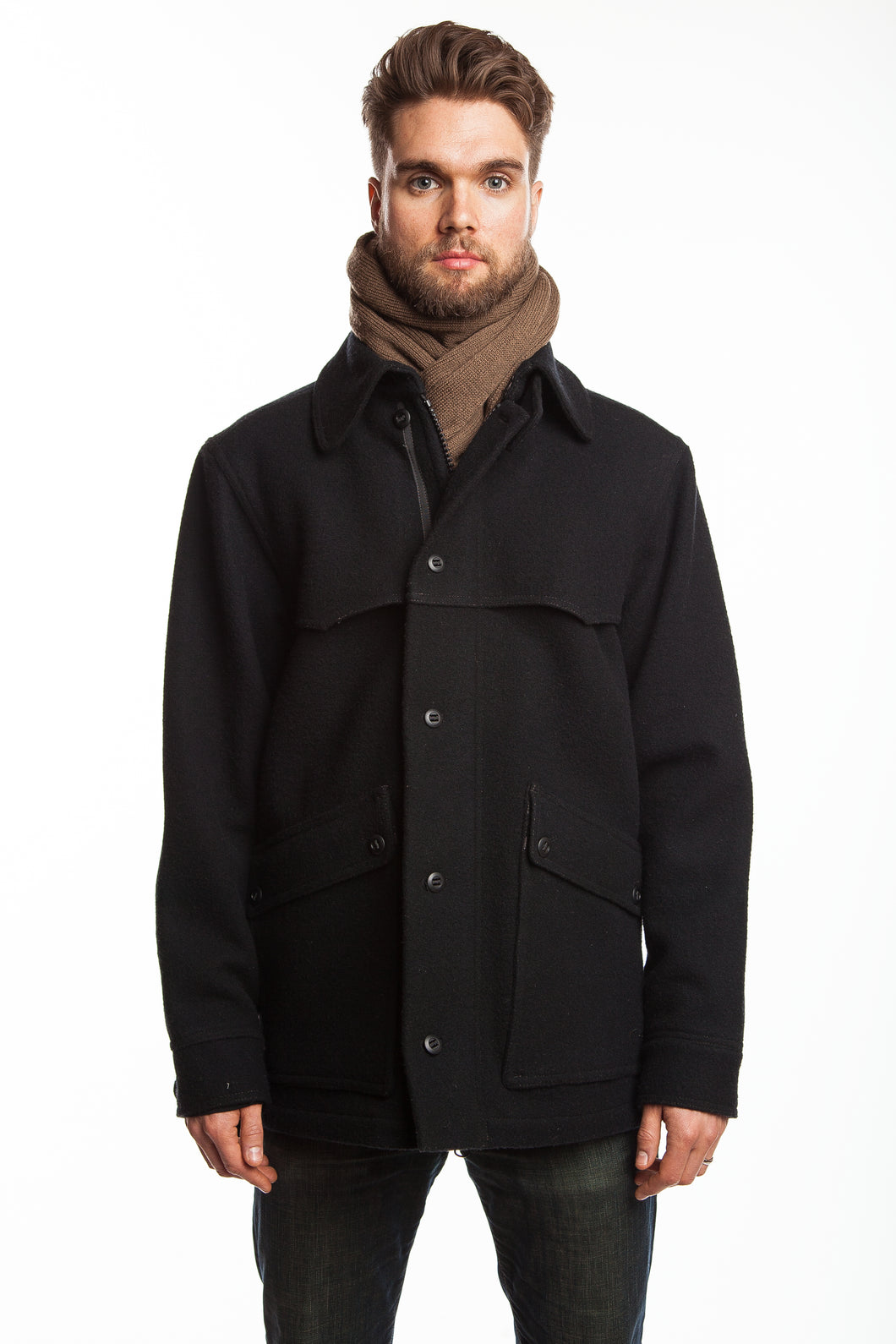 WeatherWool Pure Merino Wool All-Around Jacket in Solid Black Color
