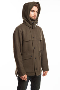 WeatherWool Pure Merino Wool All-Around Jacket in Solid Drab Color