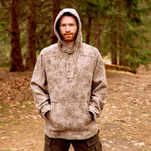 Al's Anorak in Lynx Pattern by WeatherWool is great for hunting and is our WarriorWool item