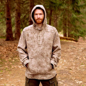 Al's Anorak in Lynx by WeatherWool is great for hunting