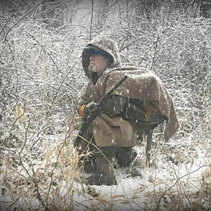 WeatherWool Advisor Dave Canterbury is one of the foremost names in bushcraft and survival circles.  Here, Dave Canterbury in WeatherWool Poncho