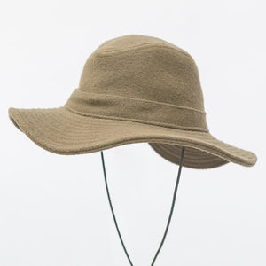 WeatherWool Big Brim Boonie Hat in Merino Jacquard Fabric, shades snow and rain