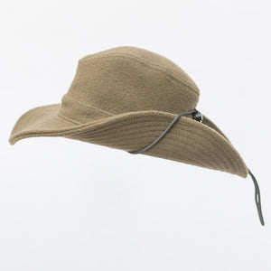 WeatherWool Big Brim Boonie Hat Merino Jacquard Fabric, keeps weather off, breaks up the silhouette