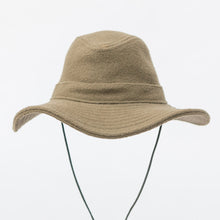 WeatherWool Big Brim Boonie in Duff Merino Jacquard Fabric, keeps weather off, breaks up the silhouette