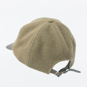 WeatherWool Ball Cap with leather brim, merino wool wth back adjustment