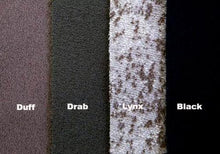 WeatherWool's Merino Jacquard fabric choices - Duff, Drab, Lynx, Black