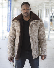 WeatherWool Advisor Fazon Gray the WeatherWool Mouton Jacket on location in New York City