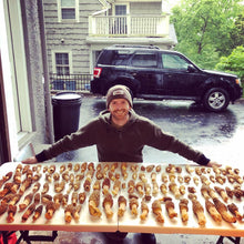 WeatherWool Advisor, Hunting and Nature Guide and Broadway Theater Actor Fisher Neal with a tremendous haul of Morels
