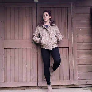WeatherWool Merino Jacquard Ladies Bomber Jacket
