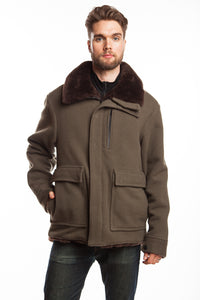 WeatherWool Mouton Jacket is extremely warm, all-natural, custom made, tested successfully by US Military under conditions of extreme cold and wind