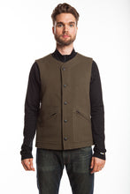 WeatherWool Basic Vest.  Pure Merino Wool, Pure American.  Solid Drab Color