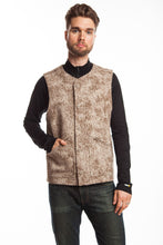 WeatherWool Basic Vest.  Pure Merino Wool, Pure American.  Lynx Pattern