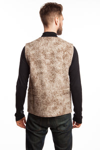 WeatherWool Basic Vest.  Pure Merino Wool, Pure American.  Seen here in proprietary Lynx Pattern