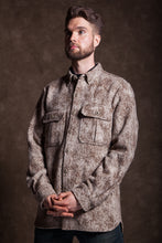 WeatherWool ShirtJac in pure wool merino Jacquard Fabric