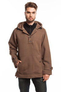 WeatherWool Anorak, Solid Duff Color, extremely versatile All-Purpose Pure Merino Outerwear