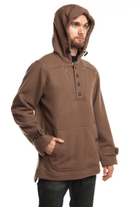 WeatherWool Anorak, Solid Duff Color, extremely versatile All-Purpose Pure Merino Outerwear, City or Wilderness