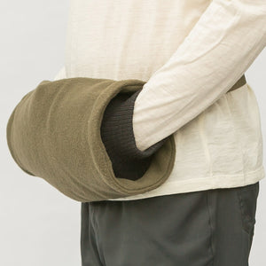 Merino Muff has merino knitted cuffs to block out the cold air