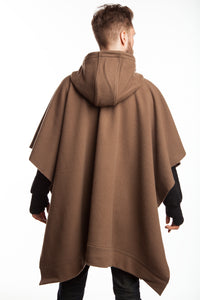 WeatherWool pure wool Merino Jacquard Poncho with Hood