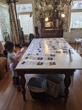 WeatherWool is very much a family business!!  Belle, age 4, the youngest member of the family, does a wonderful and very enthusiastic job preparing Fabric Samples Booklets and applying shipping labels to the WeatherWool Fabric Sample Packs!