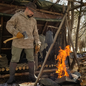 WeatherWool Advisor Greg Schauble is the man behind Scablands Bushcraft