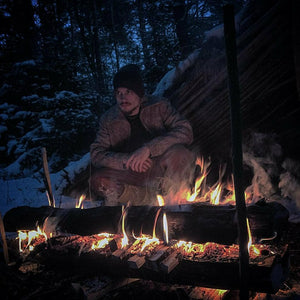 WeatherWool Advisor Zach Gault, @Primitive.Living, has a large social media presence and is a fulltime outdoor skills instructor and practitioner