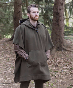 American made Merino WeatherWool Poncho in Wool, hunting, birding