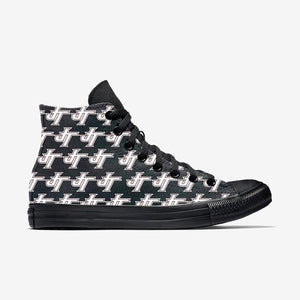 Jenks Pattern White Allstar Womens High Top