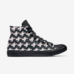 Jenks Pattern White Allstar  High Top