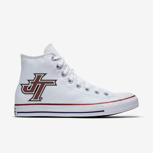 Jenks Logo White Allstar  High Top