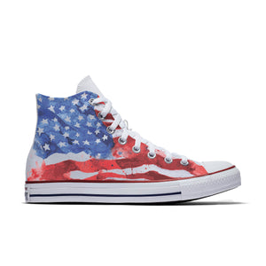 Painted American Flag Hightops