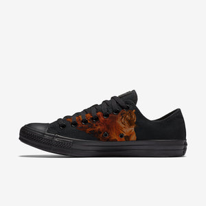 Womens TIger Fire Low Top