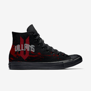 WFC Villains - Black Mono High Tops