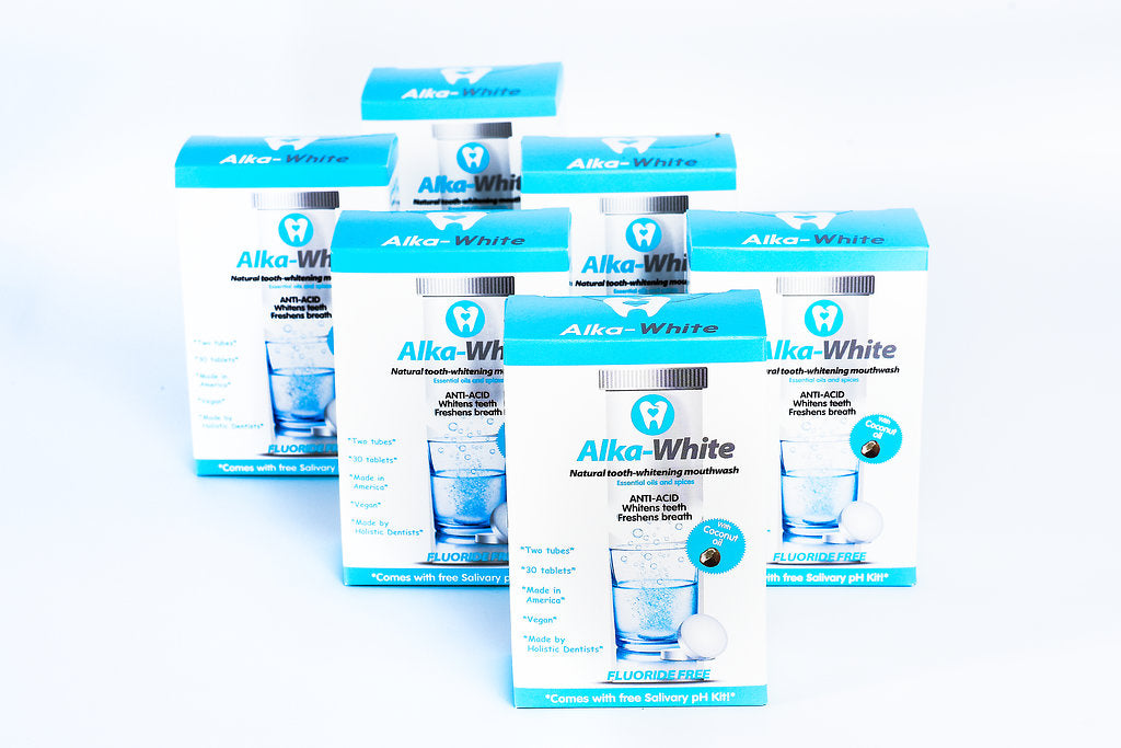 Alka-White MINT Flavor Natural Tooth Whitening Mouthwash - 30 Tablets - 6 month Plan!
