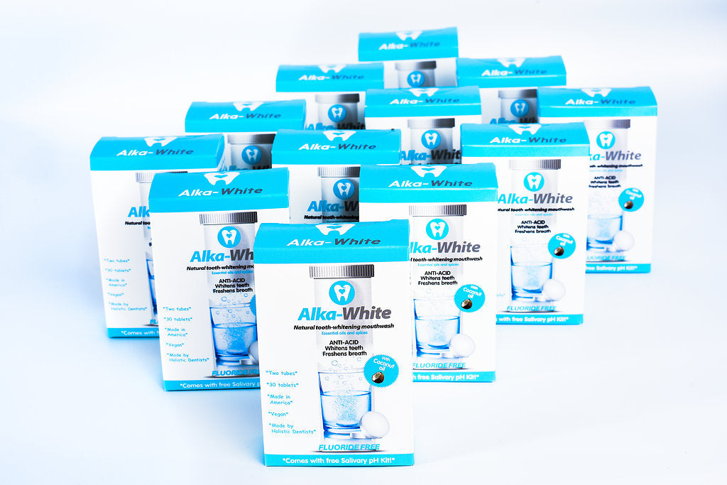 Alka-White MINT Flavor Natural Tooth Whitening Mouthwash - 30 Tablets - 12 month Plan