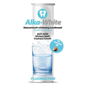 Alka-White Mint Flavor Natural Tooth Whitening Mouthwash - 30 Tablets - 6 month Refill Plan, Free Shipping