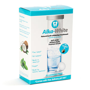 Alka-White MINT Flavor Natural Tooth Whitening Mouthwash - 30 Tablets