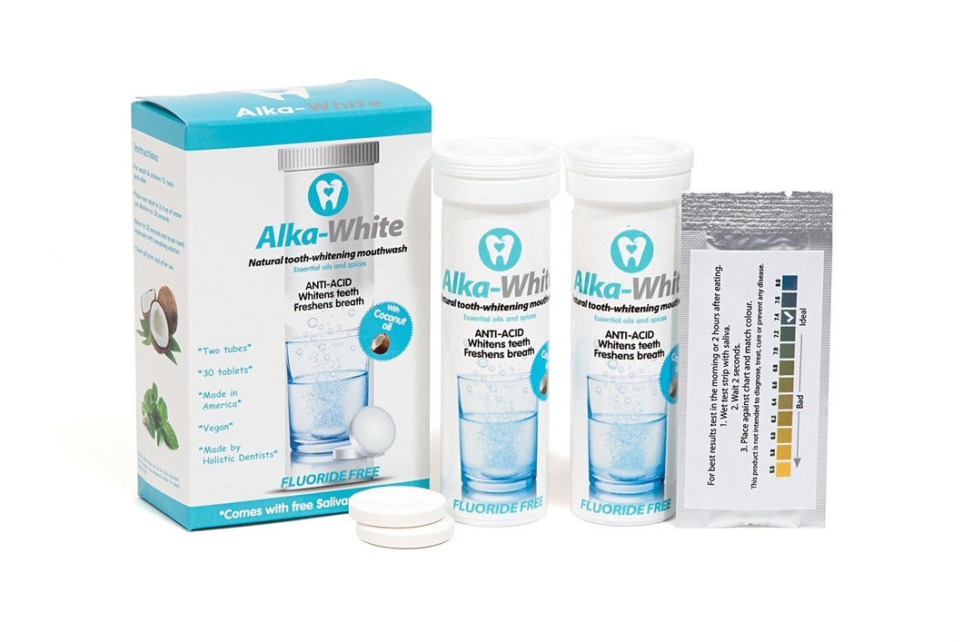Alka-White Mint Flavor Natural Tooth Whitening Mouthwash - 30 Tablets - 3 month Refill Plan, Free Shipping