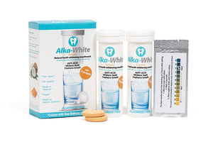 Alka-White Tumeric Flavor Natural Tooth Whitening Mouthwash - 30 Tablets - 3 month Refill Plan, Free Shipping