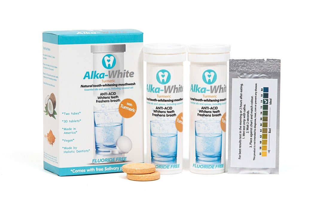 Alka-White TURMERIC Flavor Natural Tooth Whitening Mouthwash - 30 Tablets