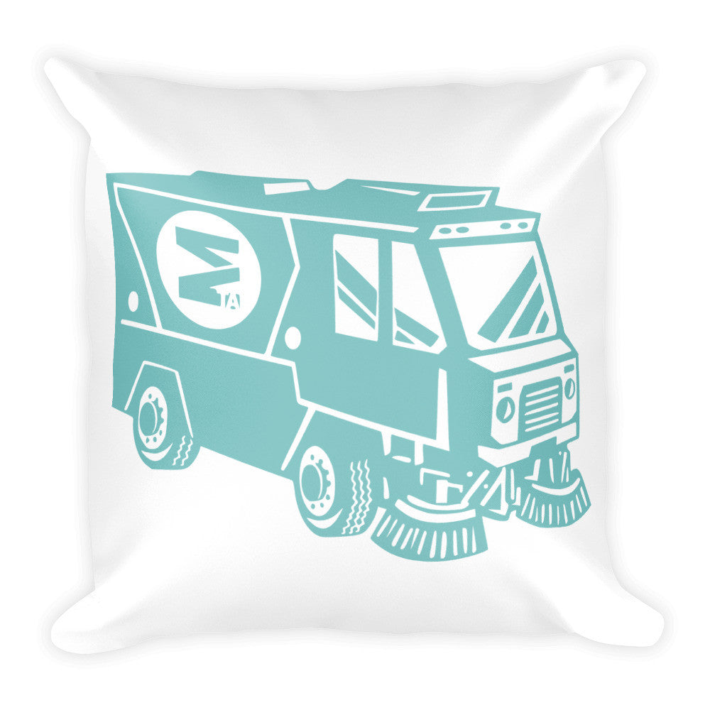 Expo Street Sweeper Square Pillow