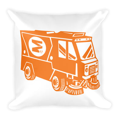 Orange Street Sweeper Square Pillow