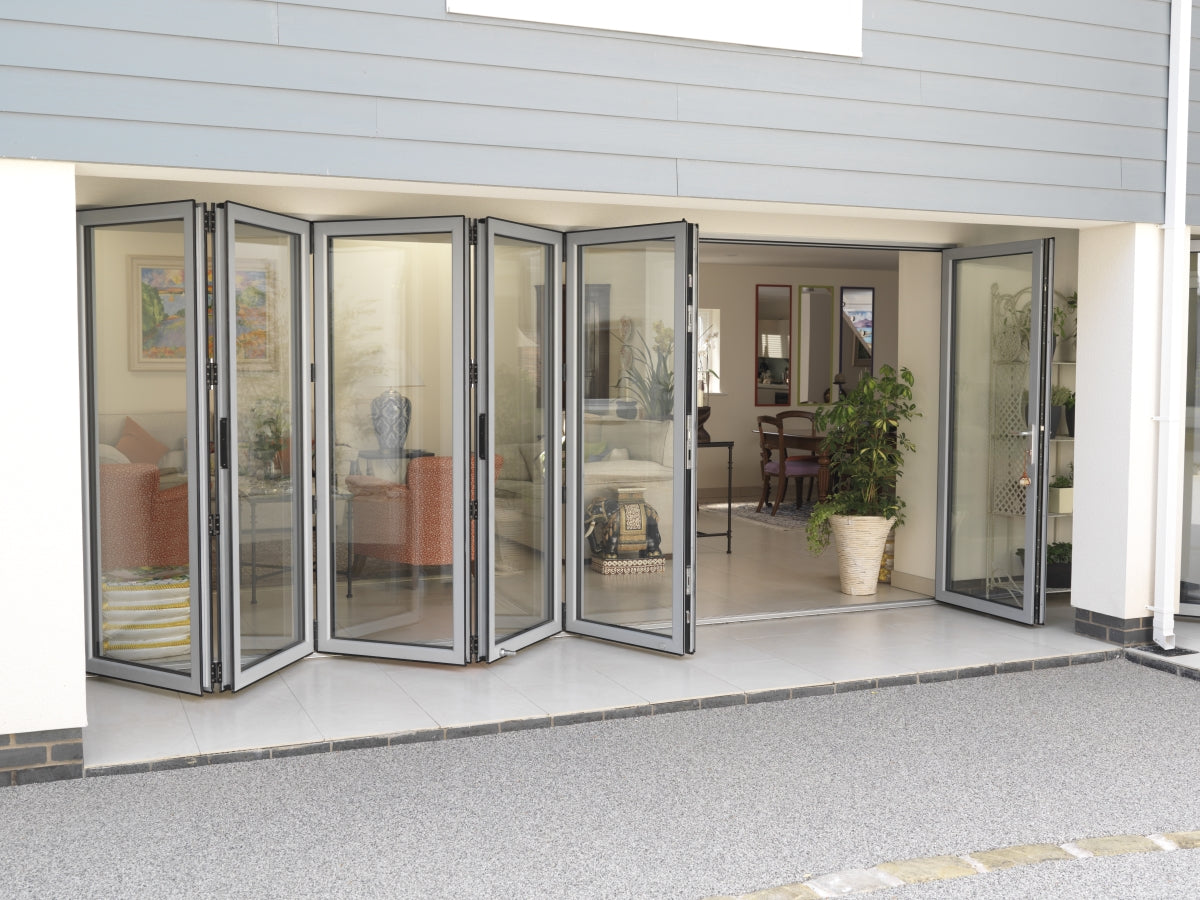 6 panel folding door - specify style & size up to 6m wide x 2.5m ...